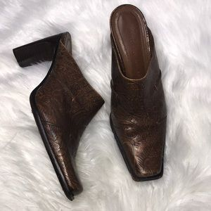 Antonio Melani Brown Leather Tango Boots 7M